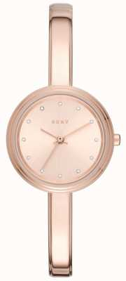 DKNY Womans Murray Rose Toned Bangle Watch NY2600