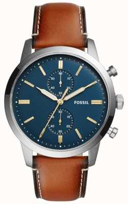 Fossil Mens Townsman Chronograph Brown Leather FS5279