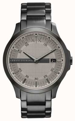 Armani Exchange Mens Gunmetal Grey Stainless Steel Watch AX2194