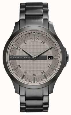 Armani Exchange Mens Gunmetal Grey Stainless Steel Watch AX2194
