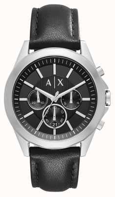 Armani Exchange Mens Leather Black Chronograph AX2604