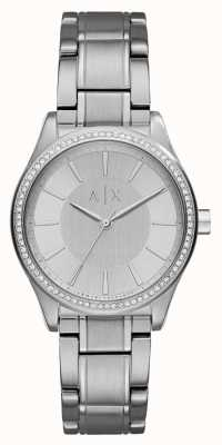 Armani Exchange Womans Steel Silver Dress Watch AX5440