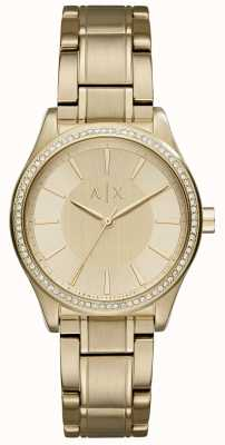 Armani Exchange Womans Steel Gold Dress Watch AX5441