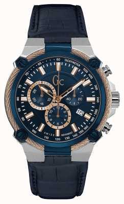 Gc Men's Cableforce Chronograph Blue Y24001G7