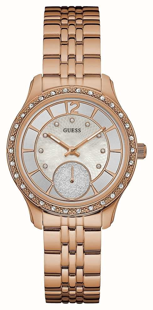 Guess Womans Whitney Rose Gold Plated W0931L3 - First ...