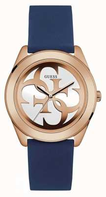 Guess Womens G Twist Blue Strap W0911L6