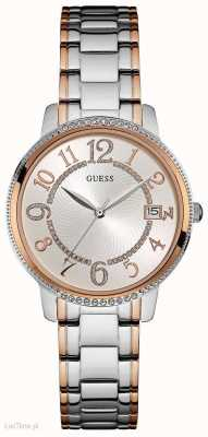 Guess Womens Kismet Two Tone Silver Dial W0929L3