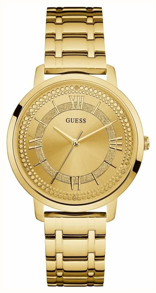 Guess Womens Montauk Gold Plated Bracelet Gold Dial ...