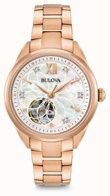 Bulova Women's Automatic Diamond Watch 97P121
