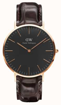 Daniel Wellington Unisex Classic Black York Watch 40mm DW00100128