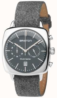 Briston Mens Clubmaster Vintage Grey Fabric Strap Grey Dial 17140.PS.V.17.LFG