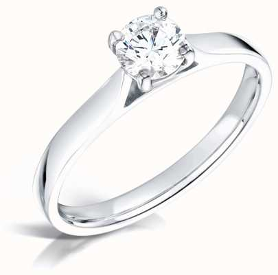 Certified Diamond 0.41ct H SI1 GIA Diamond Engagement Ring FCD28378