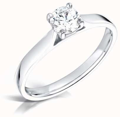 Certified Diamond 0.50ct Diamond Engagement Ring D SI1 GIA FCD28350