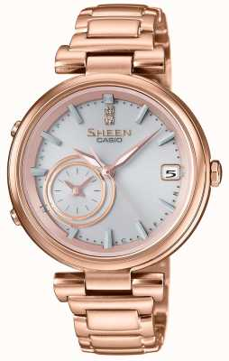 Casio Sheen Bluetooth Rose Gold Plated Womens Connected SHB-200CG-9AER