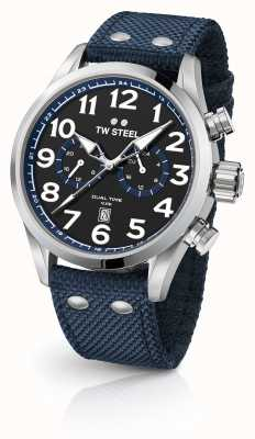TW Steel Blue Fabric Gents Watch VS37