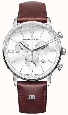 Maurice Lacroix Eliros Mens Chronograph Brown Leather EL1098-SS001-112-1