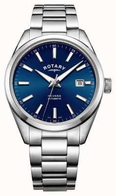 Rotary Mens Havana Stainless Steel Blue GB05077/05