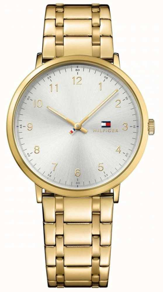 3d3024c22 Tommy Hilfiger Mens James PVD Gold Plated Watch 1791337 - First ...