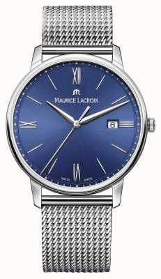 Maurice Lacroix Mens Eliros Bracelet Mesh Strap Blue EL1118-SS002-410-1