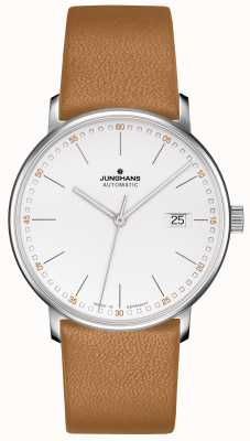 Junghans FORM A Calfskin Tan Strap with Batons 027/4734.00