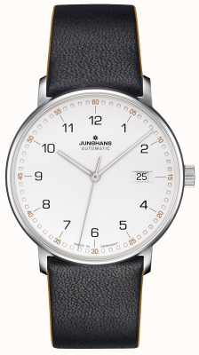 Junghans FORM A Calfskin Black Strap with Numbers 027/4731.00
