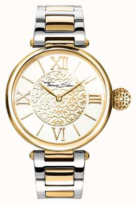 Thomas Sabo Womens KARMA | Two-Tone Stainless Steel/PVD Strap | WA0299-291-202-38