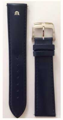 Maurice Lacroix Strap Only 20mm Blue Leather Strap Stainless Buckle ML740-005011