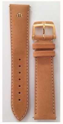 Maurice Lacroix | 20mm Camel Leather Strap Rose Gold | No Buckle ML740-005014