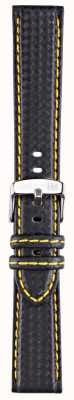 Morellato Strap Only - Biking Techno Black/yellow 22mm A01U3586977897CR22
