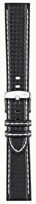 Morellato Strap Only - Biking Techno Black/white 20mm A01U3586977817CR20