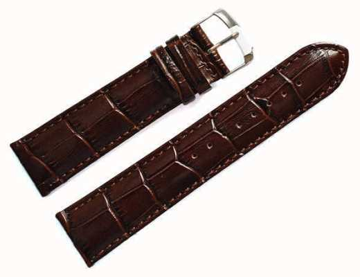 Morellato Strap Only - Samba Alligator Calf Brown 20mm A01X2704656032CR20