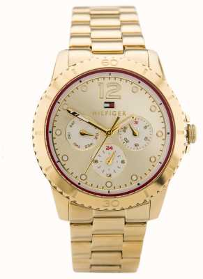 Tommy Hilfiger Womens Tessa Gold Tone Steel Gold Dial 1781583