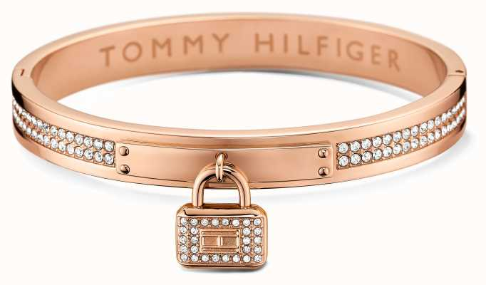 Tommy Hilfiger Womens Rose Gold Plated Bangle 2700711