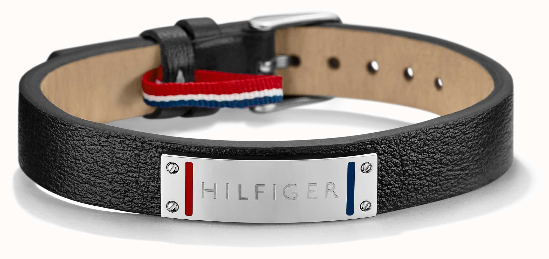 tommy hilfiger mens black leather stainless steel bracelet 2700679 first class watches. Black Bedroom Furniture Sets. Home Design Ideas