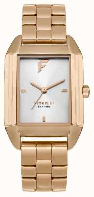 Fiorelli Womans Rose Gold Bracelet Satin Dial FO034RGM