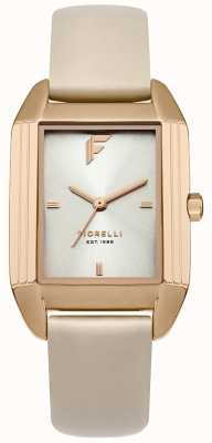 Fiorelli Womans Nude Leather Strap Camel Sunray Dial FO034CRG