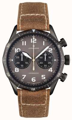 Junghans Meister Pilot Self-Winding Mechanical Brown Strap 027/3794.00