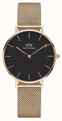 Daniel Wellington Womans Classic Melrose Petite Rose Gold Mesh DW00100161