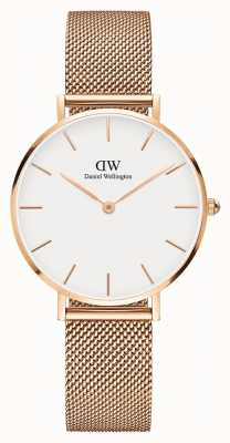 Daniel Wellington Womans Classic Melrose Petite Rose Gold Mesh DW00100163