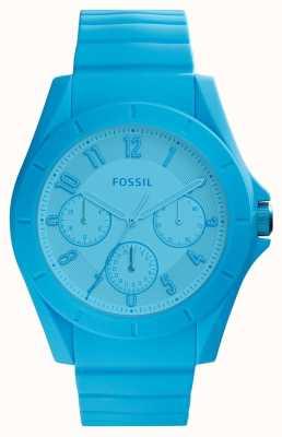 Fossil Womans Poptastic Chronograph Bright Blue FS5287