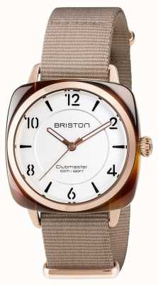 Briston Unisex Clubmaster Chic Beige Acetate PVD Rose Gold 17536.PRA.T.2.NT