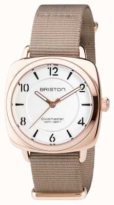 Briston Clubmaster Chic Steel - HMS Gold white dial 17536.SPRG.L.2.NT