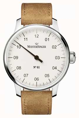 MeisterSinger Mens no. 1 Classic Hand Wound Sellita White AM3301