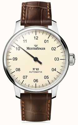 MeisterSinger Men's Classic No. 3 Automatic Ivory AM903