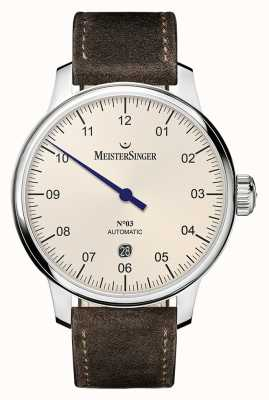 MeisterSinger Mens Classic No. 3 Automatic 40mm Ivory DM903