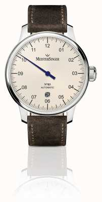 MeisterSinger Mens Classic No. 3 Automatic 40mm Ivory DM903