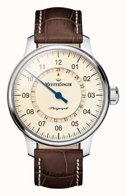MeisterSinger Men's Classic Plus Perigraph Automatic Ivory AM1003