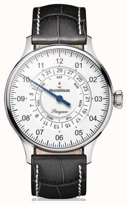 MeisterSinger Mens Classic Plus Perigraph Day Date Automatic White PDD901