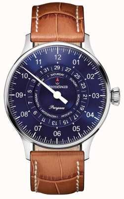 MeisterSinger Men's Classic Plus Perigraph Day Date Automatic Sunburst Blue PDD908