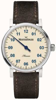 MeisterSinger Mens Form And Style Phanero Handwound Ivory PH303